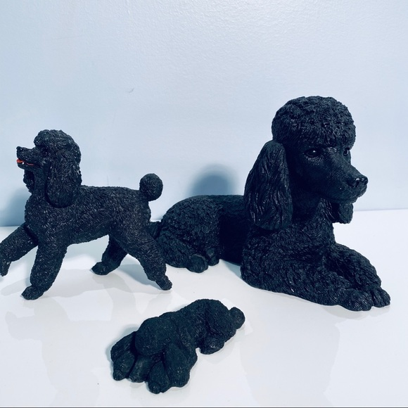Sandicast Poodle Figurine 142 S109 Set of 3